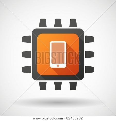 Cpu Icon With A Smartphone