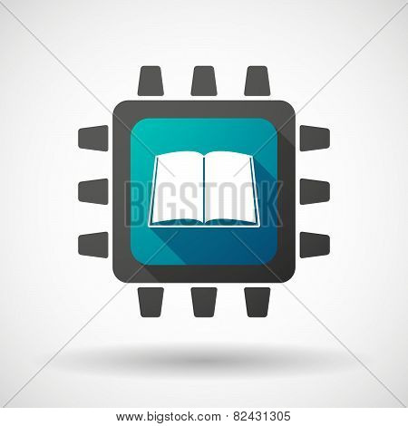 Cpu Icon With A Book