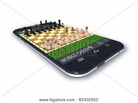 Black Smartphone With Chess Game Software Application.