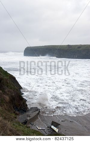 Storm At Ballybunion Beach