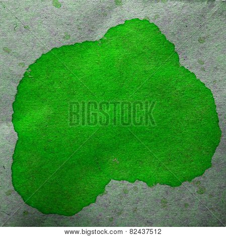watercolor green abstract background paint color blob design spl
