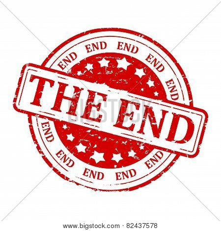 Round Red Stamp - The End