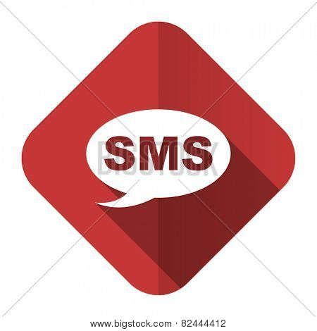 sms flat icon message sign