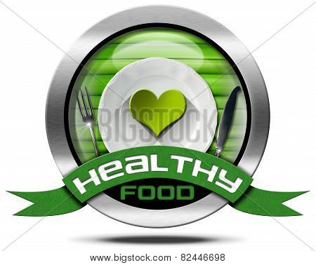 Healthy Food - Metal Icon