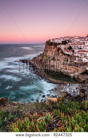 Seascape Of The Portuguese Town. Azenhas Do Mar.
