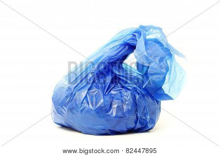 Blue rubbish bag