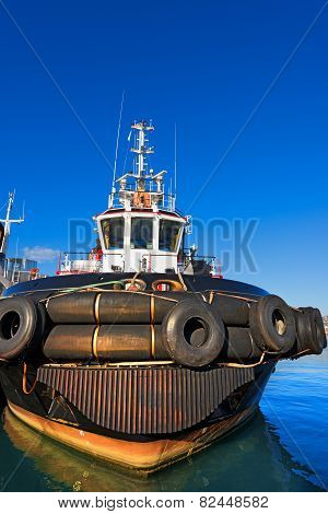 Tugboat In The Harbor