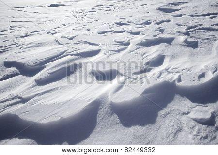 Closeup Of Snowdrift