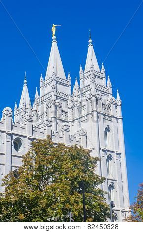 The Salt Lake City Mormons Temple