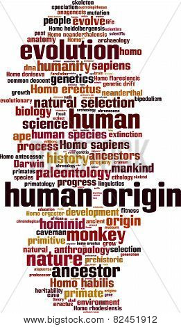 Human Origin Word Cloud