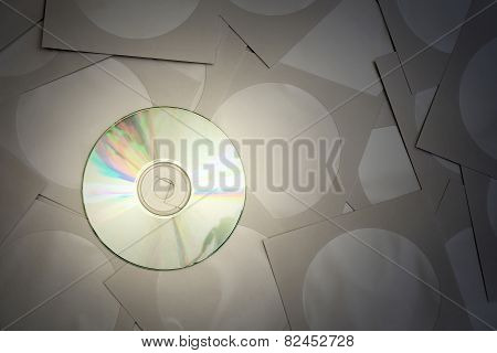 Cd disk and paper bags for cd