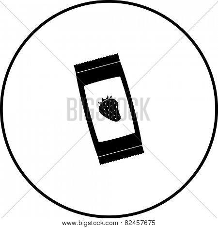 strawberry jam sachet symbol