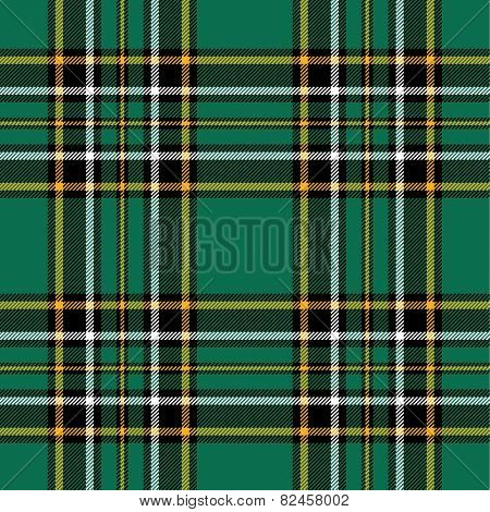 Textured irish tartan plaid. Seamless vector pattern