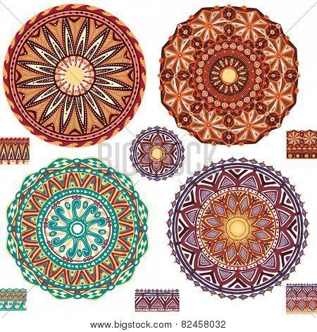 Round ornamental geometric Patterns