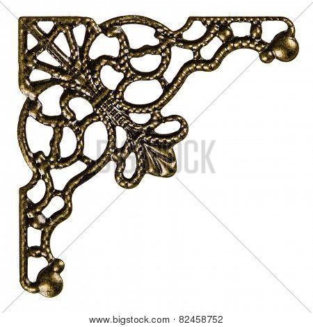 Filigree, Decorative Element For Manual Work, Isolated On White Background
