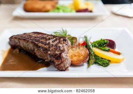 Deliciously Grilled Strip Loin Beef Steak