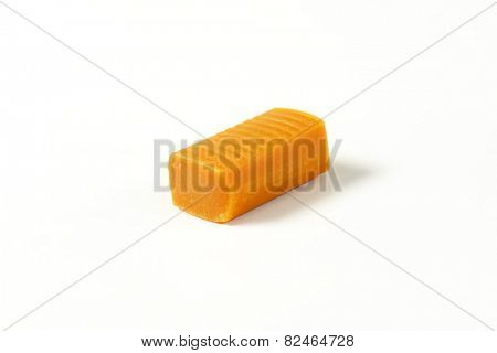 caramel toffee candy on white background