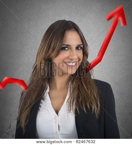 Optimistic businesswoman