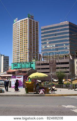 Camacho Avenue in La Paz, Bolivia