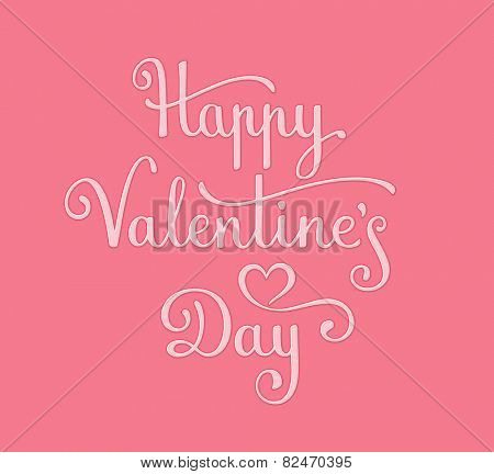 Happy Valentine's Day Card. Vector illustration