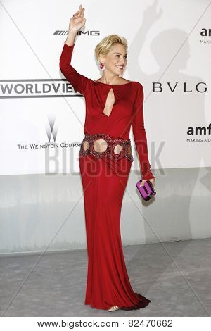 CAP D'ANTIBES - MAY 22: Sharon Stone at the amfAR's 21st Cinema Against AIDS Gala at Hotel du Cap-Eden-Roc on May 22, 2014 in Cap d'Antibes, France