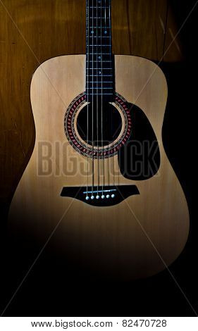 Acoustic Guitar, Body Close Up