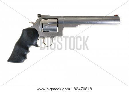 Hayward, CA - February 3, 2015: Dan Wesson revolver in .41 Magnum with a Pachmeyer rubber grip -illustrative editorial