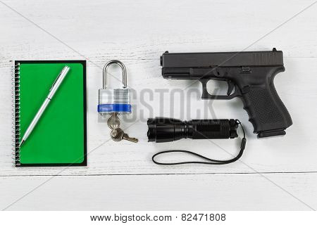 Security Items Placed On Desktop