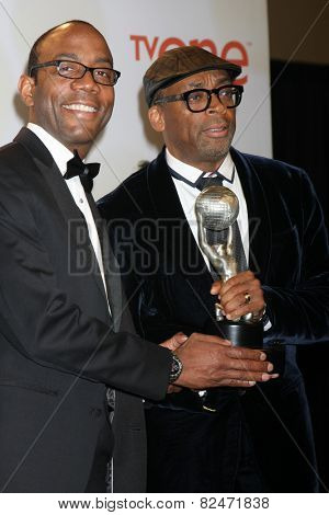LOS ANGELES - FEB 6:  Cornell William Brooks, Spike Lee at the 46th NAACP Image Awards Press Room at a Pasadena Convention Center on February 6, 2015 in Pasadena, CA