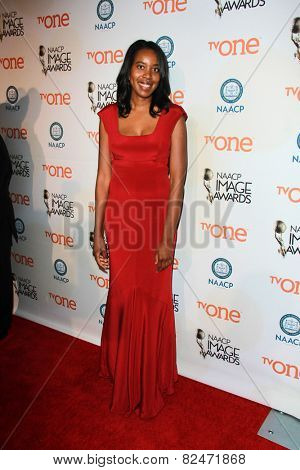LOS ANGELES - FEB 5:  Aisha Muharrar at the 46th NAACP Image Awards Non-Televised Ceremony  at a Pasadena Convention Center on February 5, 2015 in Pasadena, CA