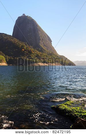 Mountain Sugarloaf From Red Beach (praia Vermelha), Rio De Janeiro, Brazil
