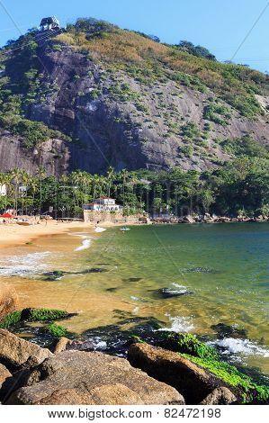 Red Beach (praia Vermelha), Mountain Morro Da Urca,  Rio De Janeiro, Brazil