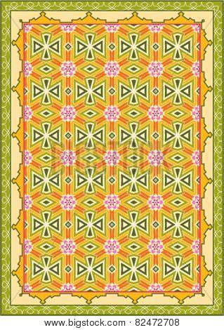 Carpet, Bed Sheet, Rug, Seamless Design Vector Illustration