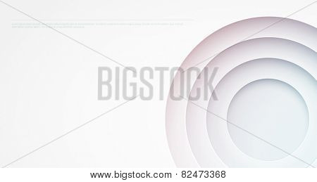 Abstract background. Circle cutouts