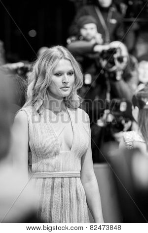 BERLIN, GERMANY - FEBRUARY 05: Toni Garrn, the Nobody Wants the Night Premiere, 65th Berlinale International Film Festival on February 05, 2015 in Berlin, Germany