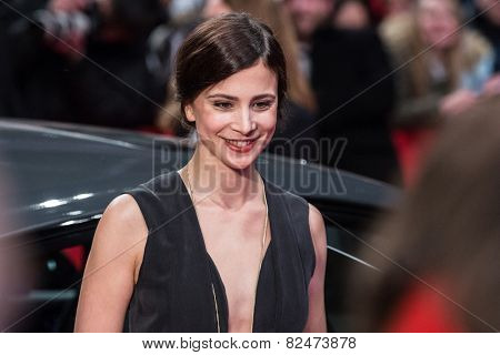 BERLIN, GERMANY - FEBRUARY 05: Aylin Tezel. Nobody Wants the Night, Opening Night premiere  65th Berlinale International Film Festival at Berlinale Palace on February 5, 2015 in Berlin, Germany