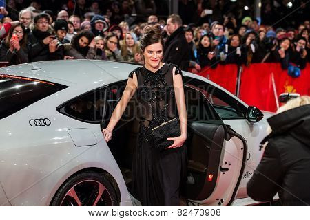 BERLIN, GERMANY - FEBRUARY 05: Fritzi Haberlandt, Nobody Wants the Night, Opening Ceremony. 65th Berlinale International Film Festival at Berlinale Palace on February 5, 2015 in Berlin, Germany.