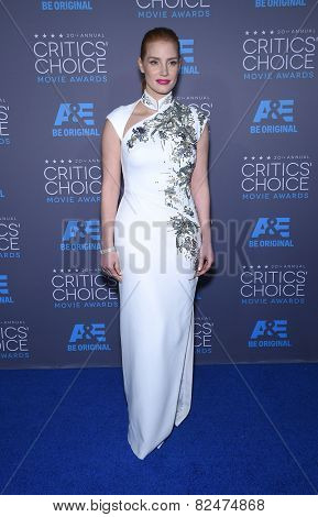 LOS ANGELES - JAN 16:  Jessica Chastain arrives to the Critics' Choice Awards 2015  on January 16, 2015 in Hollywood, CA