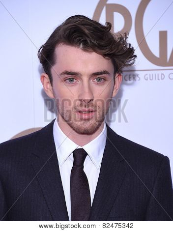 LOS ANGELES - JAN 24:  Matthew Beard arrives to the 26th Annual Producers Guild Awards  on January 24, 2015 in Century City, CA