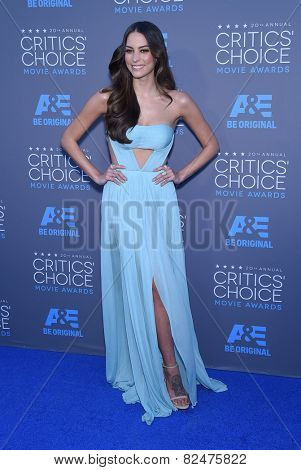 LOS ANGELES - JAN 16:  Genesis Rodriguez arrives to the Critics' Choice Awards 2015  on January 16, 2015 in Hollywood, CA