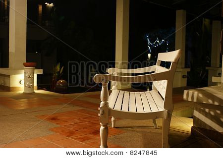 White Bench And White Light