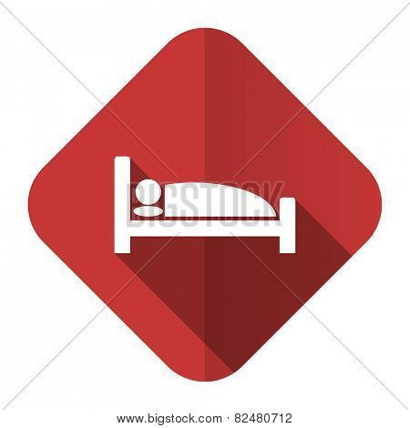 hotel flat icon bed sign
