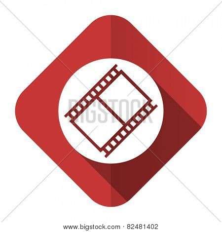 film flat icon movie sign cinema symbol