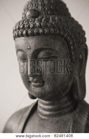 Closeup of Buddha Face