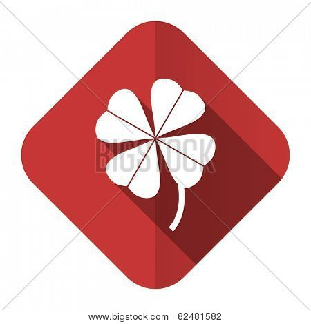 four-leaf clover flat icon