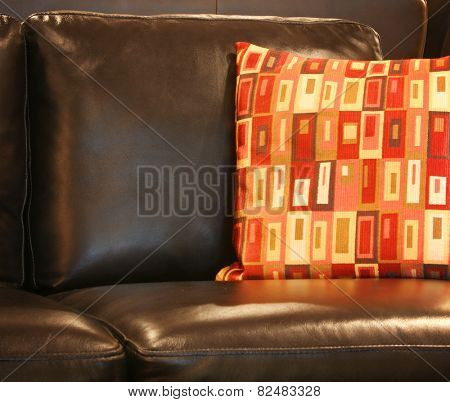 Close up of sofa in the living room