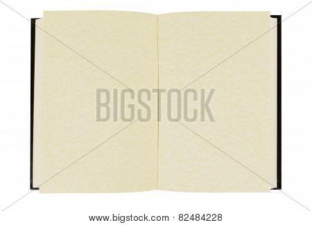 Blank Open Hardback Book