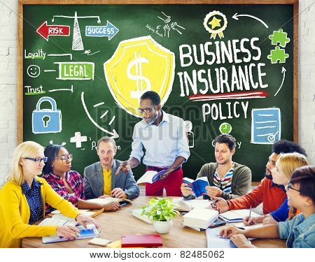 Multiethnic  People Meeting Safety Risk Business Insurance Concept