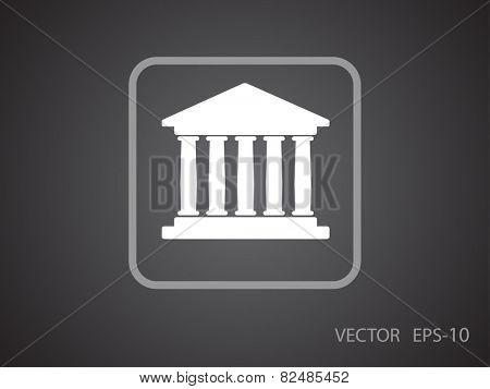 Flat  icon of bank building