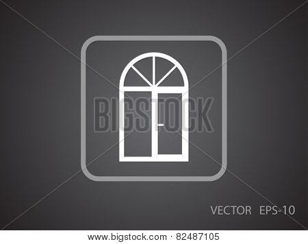 Flat Window icon, vector illustration